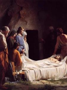 his burial